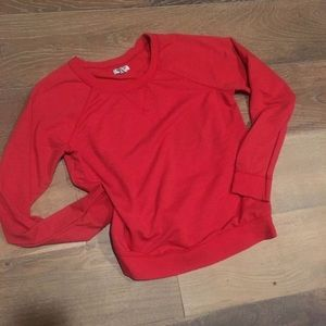 Old navy red sweatshirt
